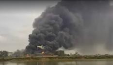 Cháy lớn tại công ty sản xuất giấy ở Bắc Ninh