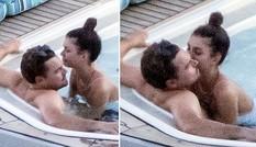 Leonardo DiCaprio được bạn gái siêu mẫu kém 22 tuổi ôm hôn ở bể bơi