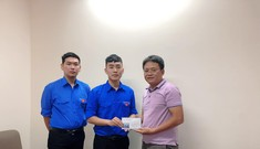 Sinh viên trường quân sự đến Tiền Phong chia sẻ với miền Trung