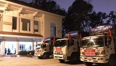 Nhiều chuyến xe 0 đồng chở hàng cứu trợ miền Trung
