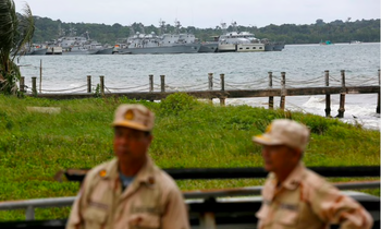Quân cảng Ream ở tỉnh Sihanoukville, Campuchia. (Ảnh: Reuters)