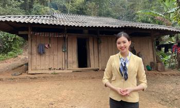 Người đẹp Hoa hậu Việt Nam Hà Thanh Vân tiết lộ kỉ niệm lần đầu tiên lên sóng VTV