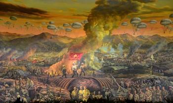 """Chiến thắng Điện Biên Phủ được khắc họa sinh động qua tranh tường """"Điện Biên Phủ"""""""
