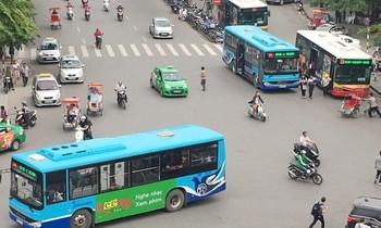 Xe buýt Hà Nội không chở khách quá 50% số ghế trên xe