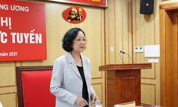 Trưởng Ban Tổ chức T.Ư Trương Thị Mai (Ảnh N.A)