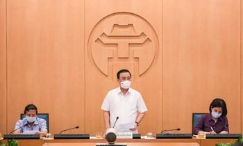 Phó Chủ tịch Hà Nội Chử Xuân Dũng phát biểu kết luận cuộc họp