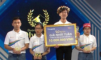 Manh Dung won the laurel wreath of the contest.  Photo: FBCT