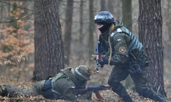 Binh sỹ Ukraine trong một đợt tập trận