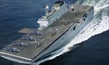 Hình ảnh minh họa về tàu đổ bộ Type 075 của Trung Quốc. CCTV
