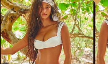 'Thiên thần nội y' Lais Ribeiro nóng bỏng hoang dại với áo tắm
