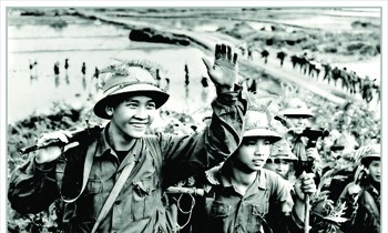 Welcome home to enter the battlefield in 1971 Photo: Mau Hoang Thiet
