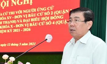 Tiếp xúc cử tri, Chủ tịch TPHCM hứa không quan liêu, tham nhũng