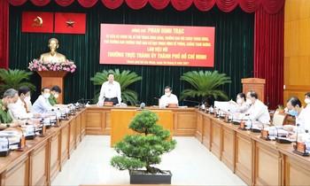 Trưởng Ban Nội chính làm việc với Thành ủy TPHCM
