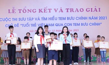 The Organizing Committee awarded a special prize to Le Hoang, Class 4C2, Vo Thi Sau Primary School, Le Chan District, Hai Phong City.