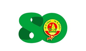 Logo (logo) 80 years of Ho Chi Minh TNTP team
