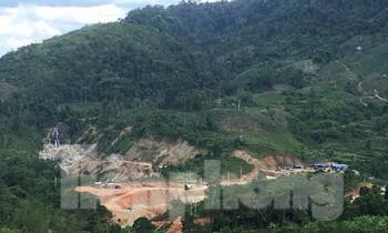 Vị trí xây dựng thủy điện Nước Long ở xã Ba Tiêu, huyện Ba Tơ, tỉnh Quảng Ngãi. Ảnh: Nguyễn Ngọc
