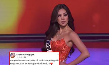 Hoa hậu Khánh Vân có động thái đầu tiên sau Bán kết Miss Universe, được cả V-Biz chúc mừng