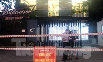 Lực lượng chức năng phong tỏa quán karaoke New KTV Hải Phòng.