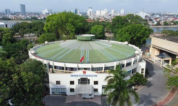 Panoramic view of Hai Phong Youth Culture and Sports Palace on Lach Tray Street.