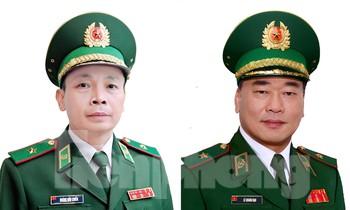 Thiếu tướng Lê Quang Đạo (bên phải) và Thiếu tướng Hoàng Hữu Chiến