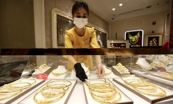 Giá vàng đồng loạt giảm. ảnh Như Ý