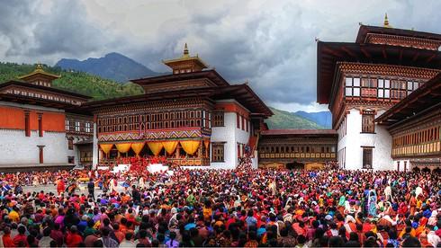Quốc kỳ Bhutan in hình con vật nào?