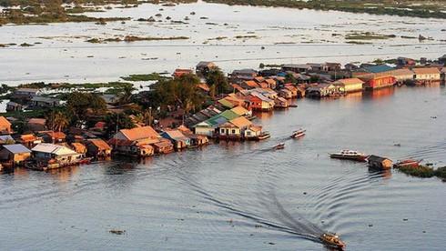 Sông Tonle Sap sẽ như thế nào trong mùa mưa?