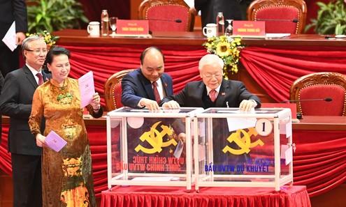 Đại hội bắt đầu bỏ phiếu bầu Ban Chấp hành Trung ương khóa XIII