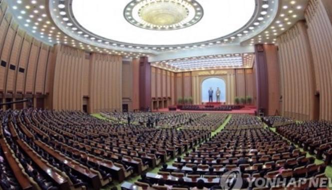 Quốc hội Triều Tiên họp kỳ đầu tiên vào tháng 4 năm nay. (Ảnh: Yonhap)