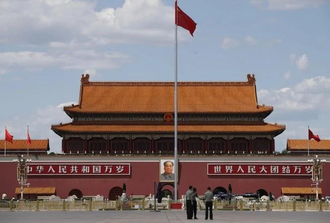 Quảng trường trước Đại lễ đường nhân dân Trung Quốc. (Ảnh: AP)