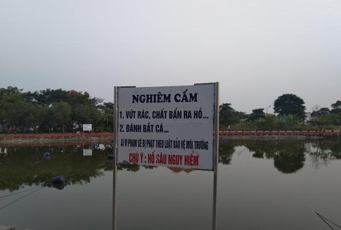 Hồ nước nơi xảy ra sự việc.