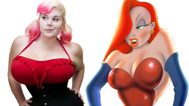 Nâng ngực, thắt eo để giống nhân vật hoạt hình