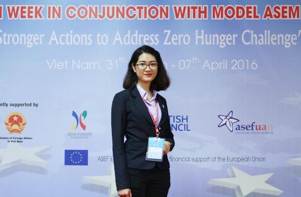 Minh Châu tại Hội nghị mô phỏng hội nghị cấp cao ASEM