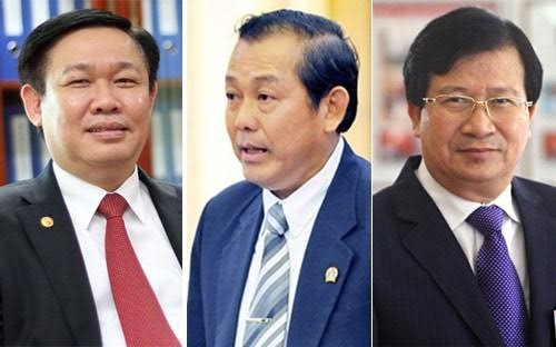 Ông Vương Đình Huệ, ông Trương Hòa Bình và ông Trịnh Đình Dũng.