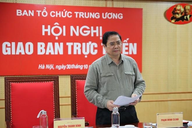 Ông Phạm Minh Chính, Trưởng Ban Tổ chức Trung ương