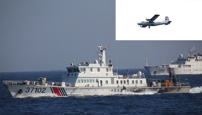 """""""Khi phát hiện các tàu Việt Nam, các tàu Trung Quốc liền xông ra xua đuổi với tốc độ cao"""", Osama Maruyama-phóng viên báo Yomiuri Shimbun, kể lại."""