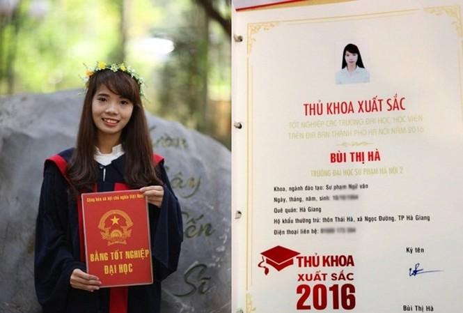 Chuyện về thủ khoa Bùi Thị Hà gây xôn xao dư luận. (Ảnh: NVCC)