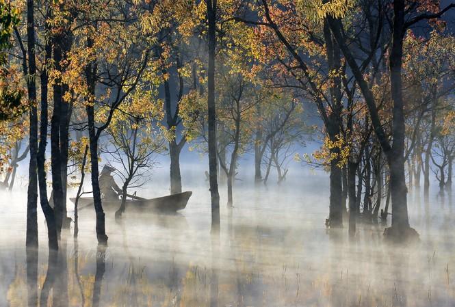 Hồ Tuyền Lâm thơ mộng - Ảnh: Võ Trang