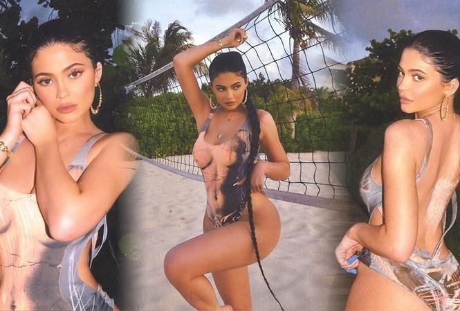 Em gái tỷ phú của Kim Kardashian khoe 3 vòng 'bỏng rẫy' gây choáng váng