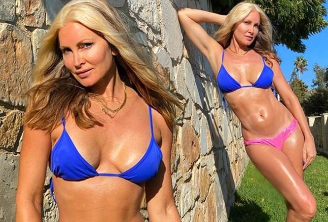 Người mẫu Caprice Bourret tự tin khoe dáng đẹp ngỡ ngàng ở tuổi 49