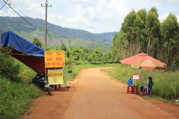 Một chốt kiểm dịch ở xã Hải, huyện Đắk Đoa, Gia Lai