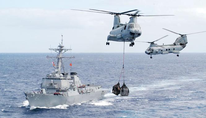 Tàu khu trục USS Lassen của Mỹ hoạt động ở Thái Bình Dương. Ảnh: US Navy.