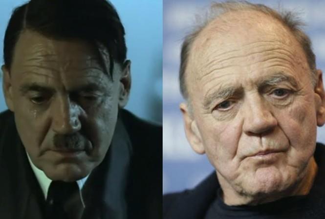 Nam diễn viên Bruno Ganz (phải), người nổi danh với vai diễn trùm phát xít Đức Adolf Hitler, vừa qua đời ở tuổi 77 tại Thụy Sĩ