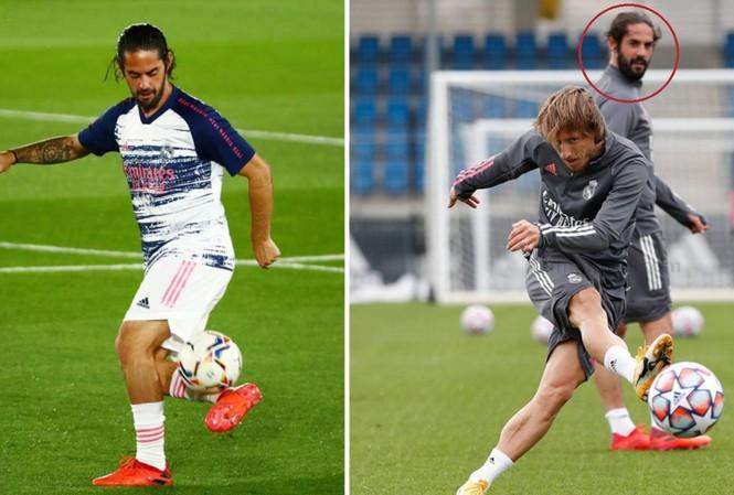 Isco lộ hình ảnh gây sốc trên sân tập của Real Madrid