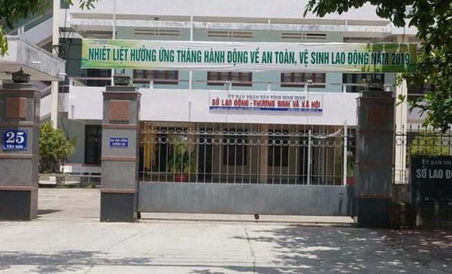 Sở LĐ-TB&XH tỉnh Bình Định - nơi ông Trương Hải Ân công tác.