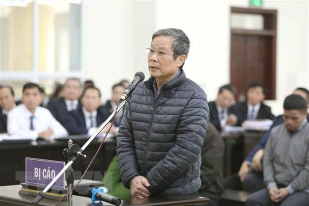 Bị  cáo Nguyễn Bắc Son hầu tòa.    ảnh: TL