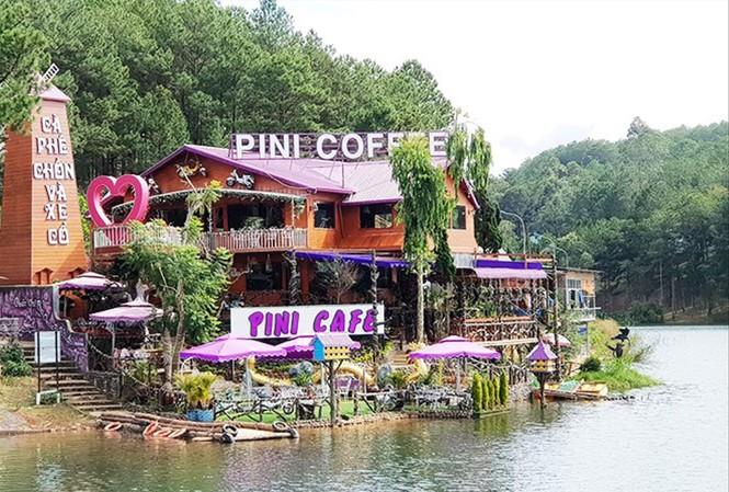 Công trình vi phạm ở hồ Tuyền Lâm