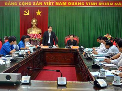 Bí thư thứ nhất T.Ư Đoàn Nguyễn Đắc Vinh làm việc tại Hà Giang