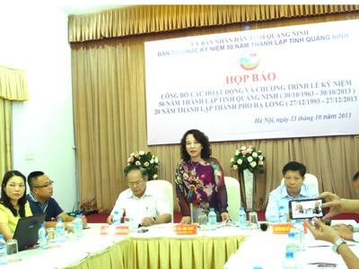 Công bố nhiều hoạt động kỷ niệm 50 năm thành lập Quảng Ninh