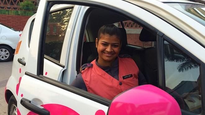 Dự kiến dịch vụ taxi hồng này sẽ được Meru Cab mở rộng ra tại các thành phố khác ở Ấn Độ. Ảnh: News.